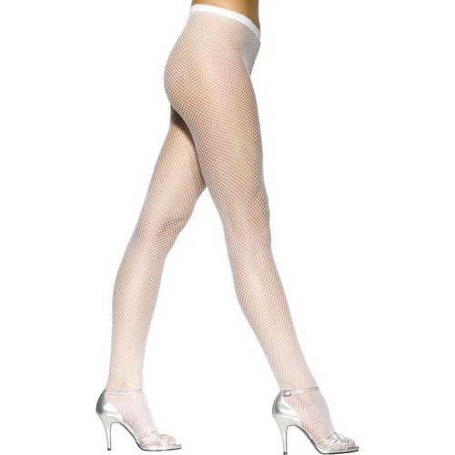 Netz-Strumpfhose - Weiß*