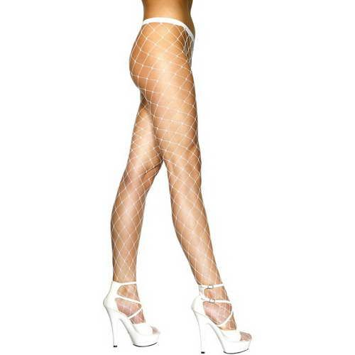 Diamond Net Tights White*