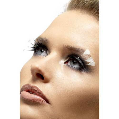 Eyelashes With White Feather*