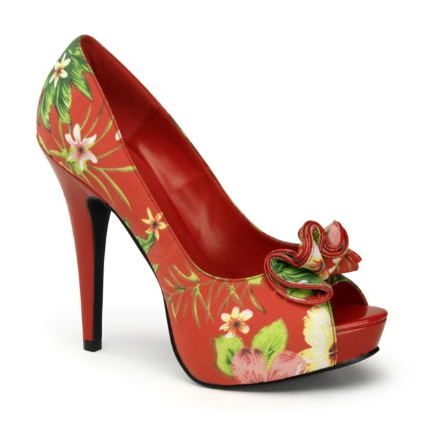 Platform pumps LOLITA-11 - Red