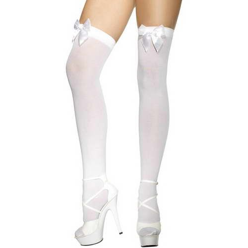 Stockings with Bow - White*