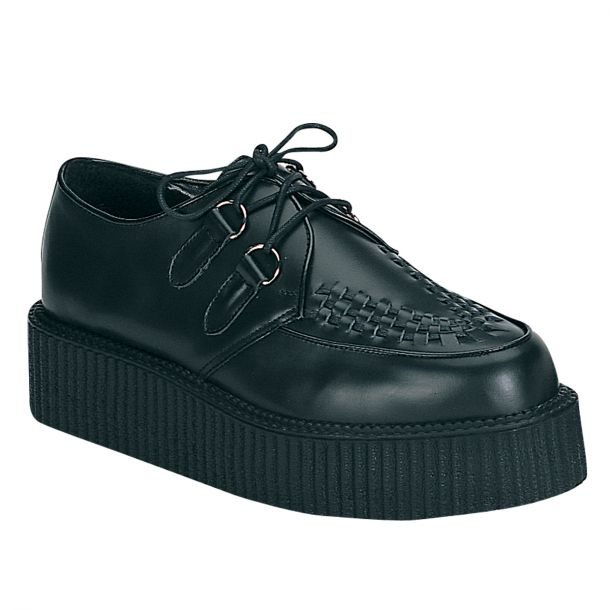 Low Shoes CREEPER-402 - Leather Black