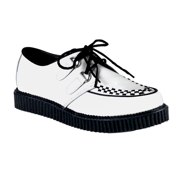 Low Shoes CREEPER-602 - Leather White