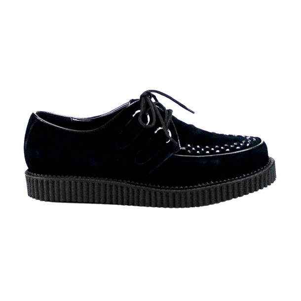 Low Shoes CREEPER-602S - Suede Black
