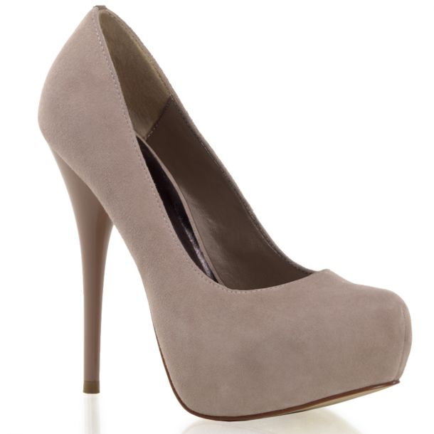 Platform Pumps GORGEOUS-20 - Velour Blush