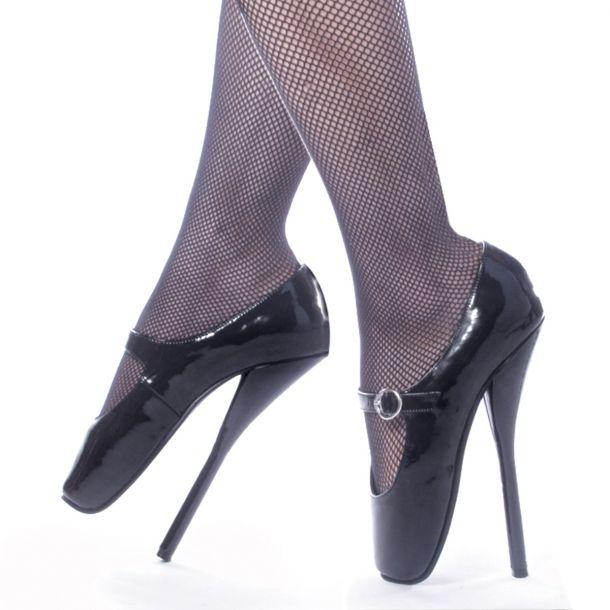 Fetish Heels BALLET-08 : Patent Black*