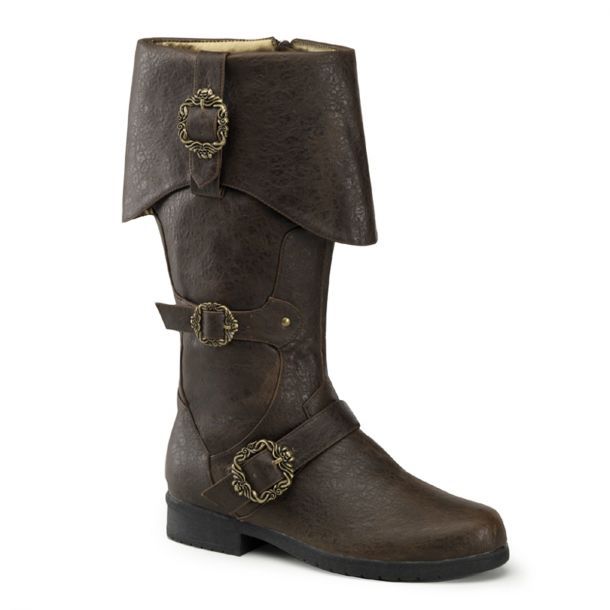 Pirate Boots CARRIBEAN-299 - Brown