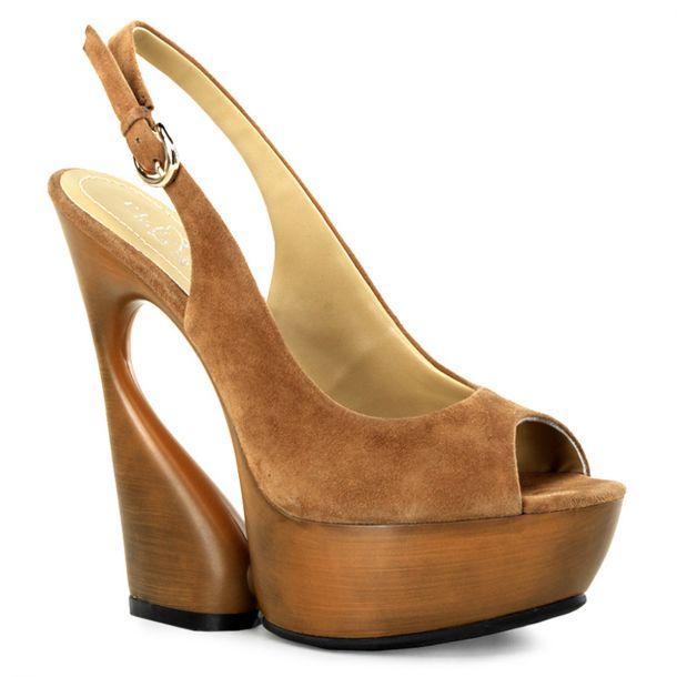 Platform sling back sandal SWAN-654 - Cocoa