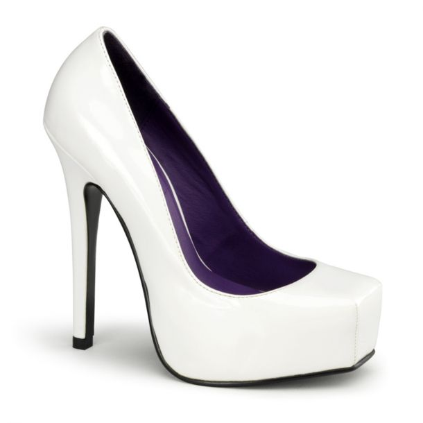Platform Pumps BONDAGE-01 - White