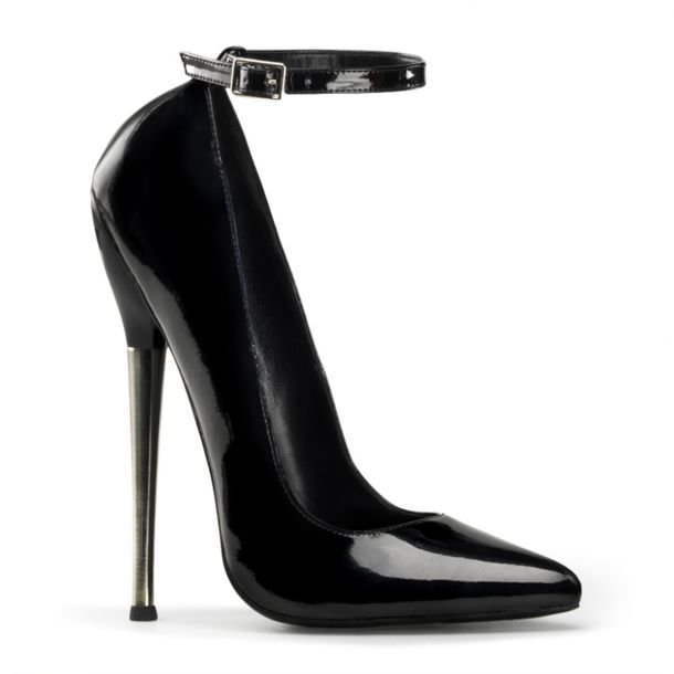Extreme High Heels DAGGER-12 - Patent Black