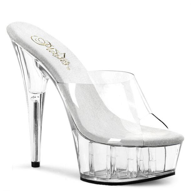 Platform mules DELIGHT-601 - Clear/Clear