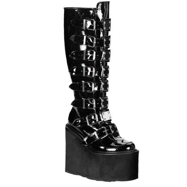 Gothic Boots SWING-815 - Patent Black