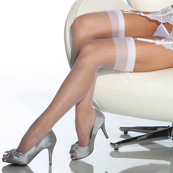 Suspender Stockings - White