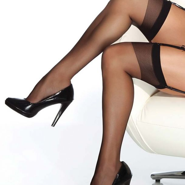 Suspender Stockings - Black