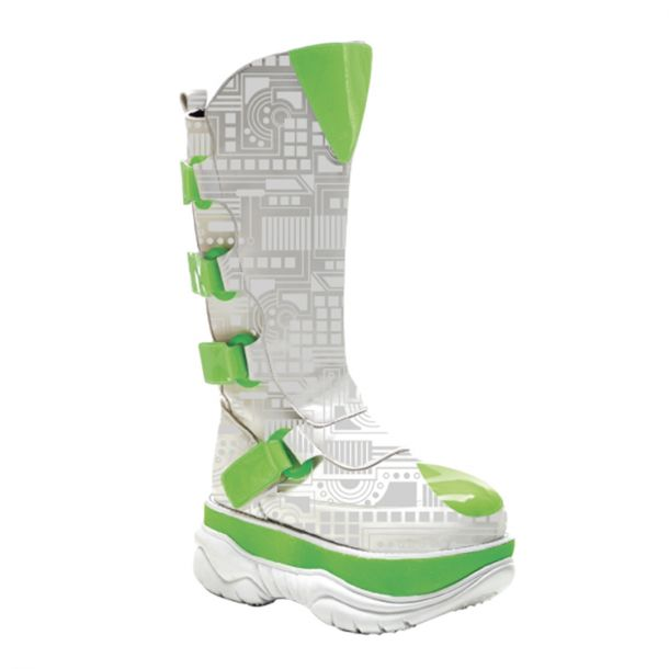 Cyber Boots NEPTUNE-309UV - White/Green