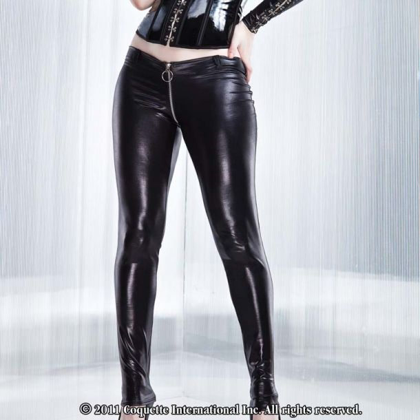 Wetlook Pants : Black*