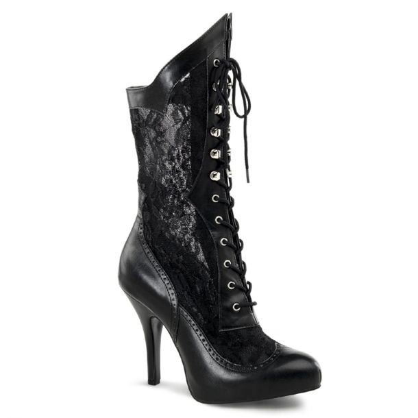 Ankle Boots VICTORIAN-116X (Wide Shaft) - Black