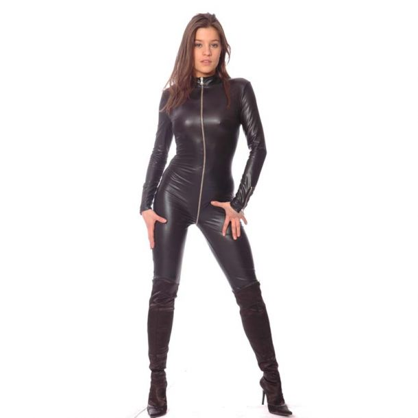 SWEETY Wetlook Catsuit - Schwarz