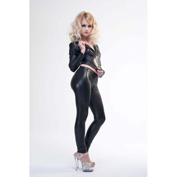 VERA Wetlook Leggings - Black*