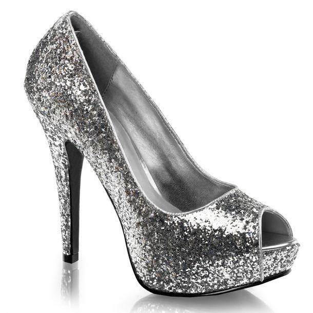 Peep Toes TWINKLE-18G : Silver*