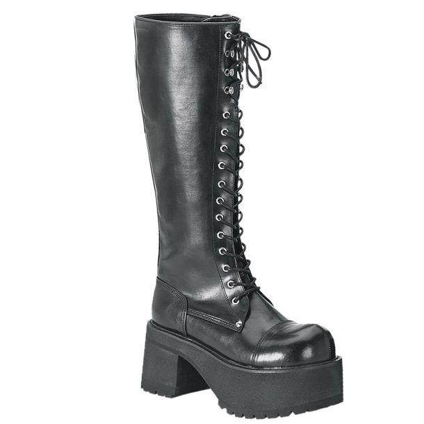 Platform Boots RANGER-302 - PU Black*
