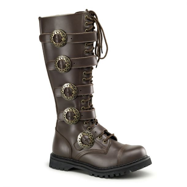 Gothic Boots STEAM-20 - Brown