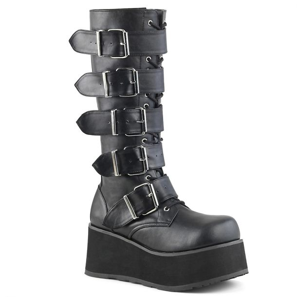Gothic Plateaustiefel TRASHVILLE-518 - PU