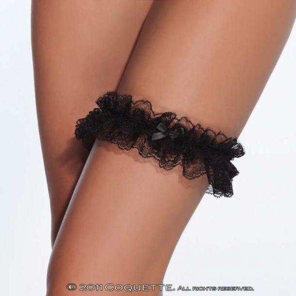 Lace Leg Garter : Black*