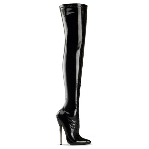 Fetish Boots DAGGER-3000 - Black