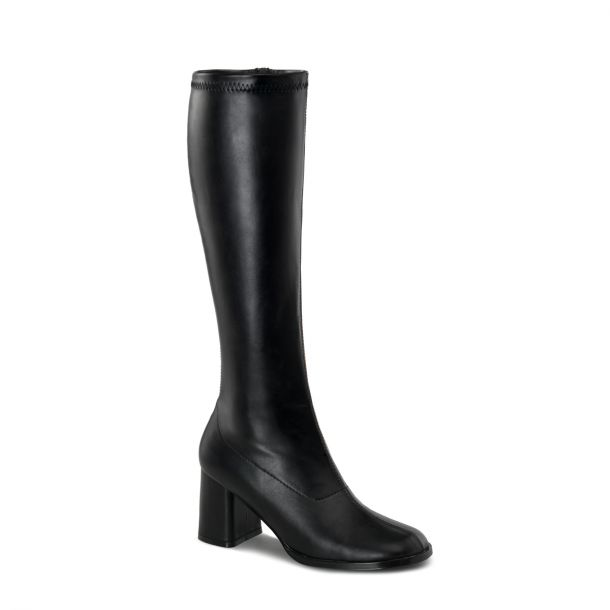 Retro Boots GOGO-300 : PU black*