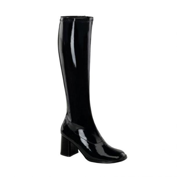 Retro Boots GOGO-300 : Patent black*