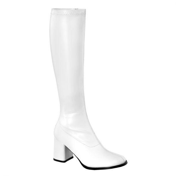 Retro Stiefel GOGO-300 : PU Weiß*
