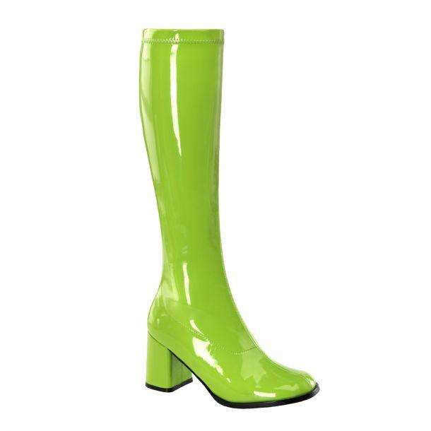 Retro Boots GOGO-300 : Patent lime*