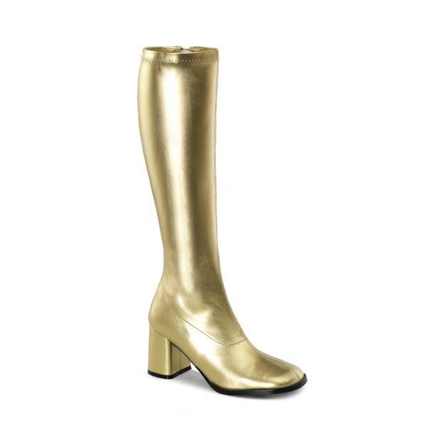 Retro Boots GOGO-300 : PU gold*