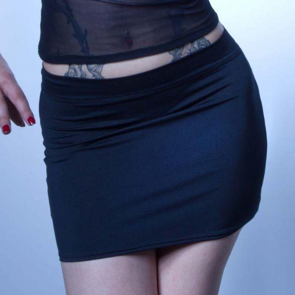 Lycra Miniskirt ALOHA - Black