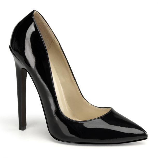 Stiletto High Heels SEXY-20 : Patent Black*