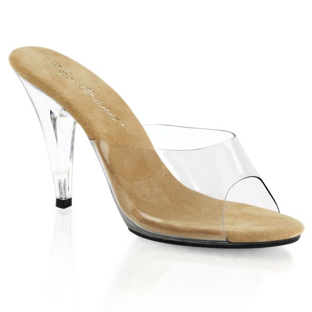 Mules CARESS-401 - Clear/Tan