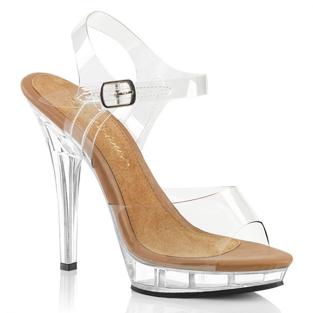 Sandal LIP-108 - Clear/Tan