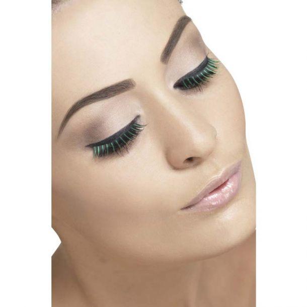 Two-tone Eyelashes : Black/Green*