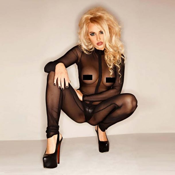 Tulle Catsuit : Black*