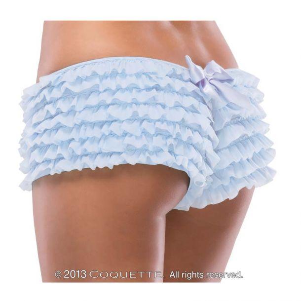 Rüschenhöschen Panty mit Schleife - Blau