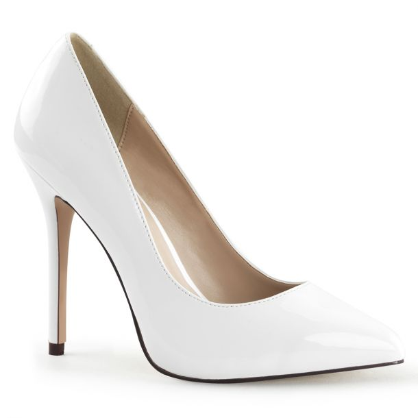 Pumps AMUSE-20 - Patent White