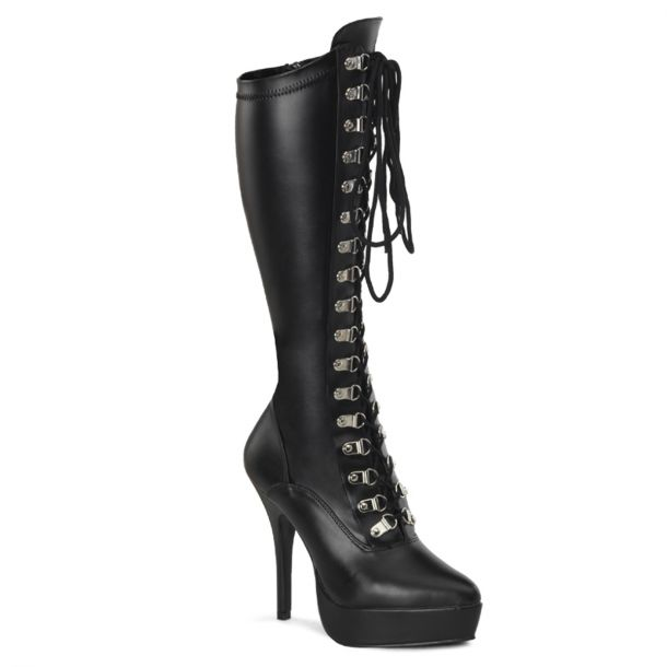 Platform Knee Boot INDULGE-2024 - PU Black