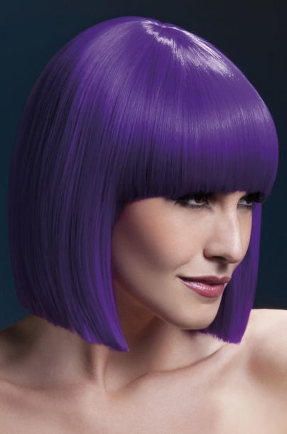 Bob Wig LOLA, short - Purple