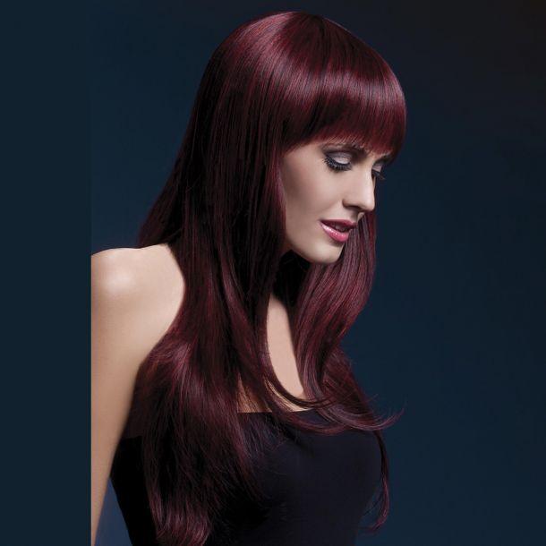 Longhair Wig SIENNA - Black Cherry*