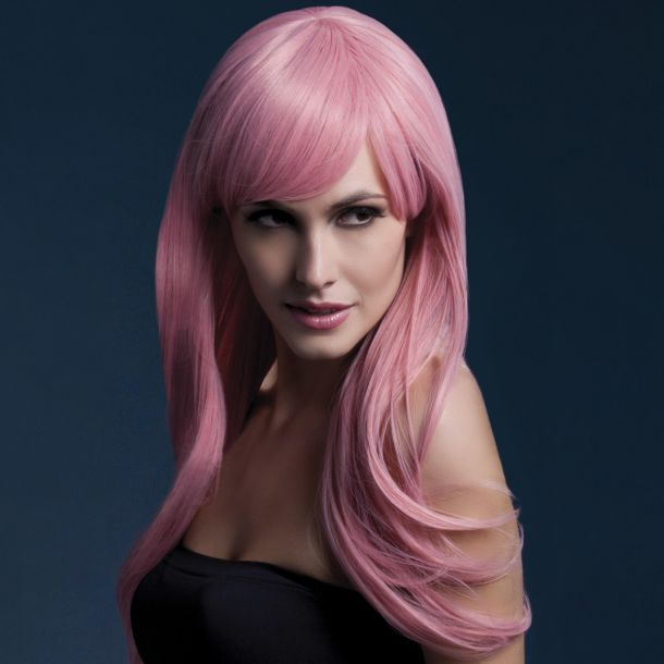 Longhair Wig SIENNA - Pastel Pink