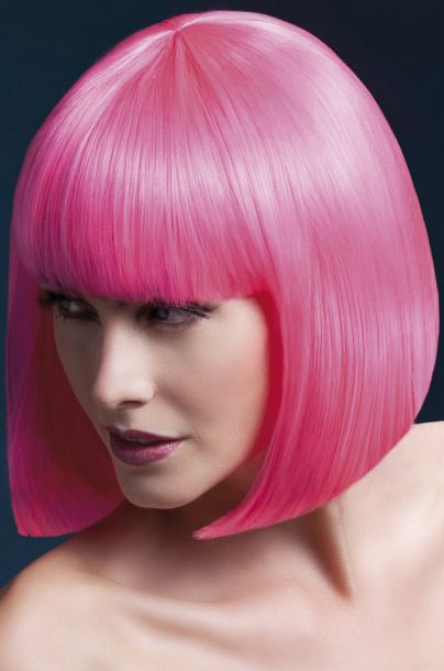 Bob Wig ELISE, medium length - Neon Pink*