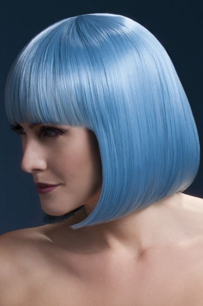 Bob Wig ELISE, medium length - Pastel Blue*