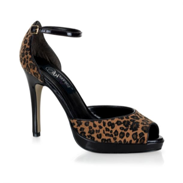 D'Orsay Pumps BLISS-33 - Leopard Pony Hair