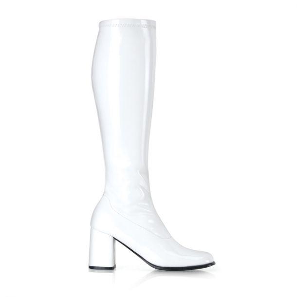 Retro Boots GOGO-300 - Patent white